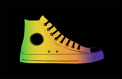 Converse Shoe Digital Art - Converse Sneakers by Timea R