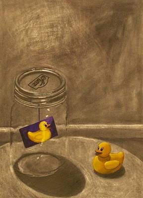 Conversing Ducks Art Print