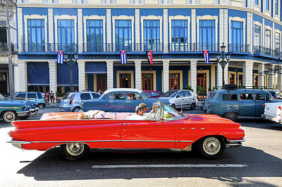 Photograph - Convertible With Long Tailfins by Joel Thai