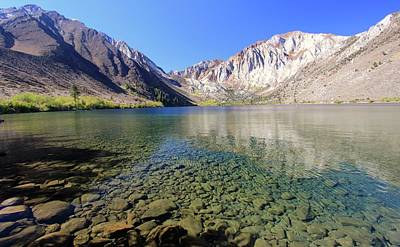 Photograph - Convict Lake Clarity by Sean Sarsfield
