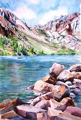 Painting - Convict Lake In Summer by Lynn Marit Peterson
