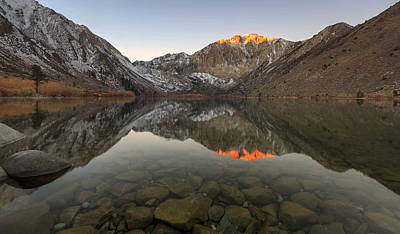 Photograph - Convict Lake Reflection by Johnny Adolphson