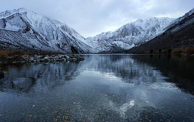 Photograph - Convict Lake Winter by Sean Sarsfield