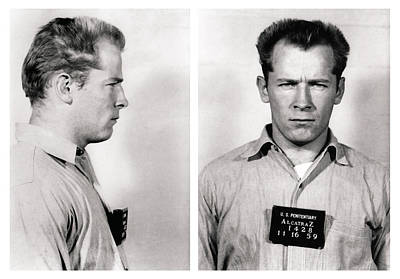 Southie Photograph - Convict No. 1428 - Whitey Bulger - Alcatraz 1959 by Daniel Hagerman
