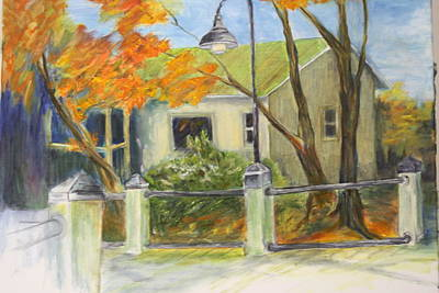 Conway Fish House Art Print by Sandra Taylor-Hedges