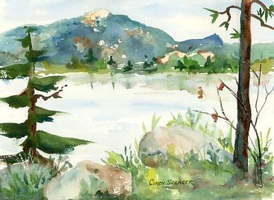 Mt Chocorua Painting - Conway Lake by Cindy Spencer