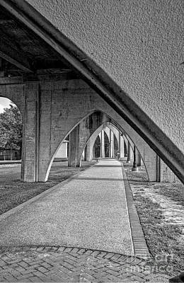 Photograph - Conway River Walk Black And White by Kathy Baccari