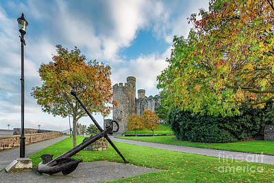 Castle Ruins Wall Art - Photograph - Conwy Castle Autumn by Adrian Evans