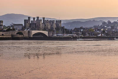 Conwy Harbour At Dusk Art Print