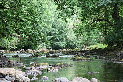Conwy River Near Betws Y Coed.  Art Print by Christopher Rowlands