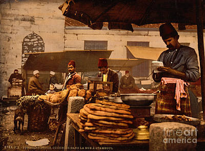 Painting - Cook In The Rue De Constantinople by Celestial Images