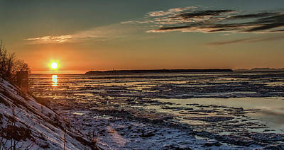 Art Print featuring the photograph Cook Inlet Sunset Alaska  by Michael Rogers