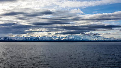 Photograph - Cook Inlet View Mountains by Britten Adams