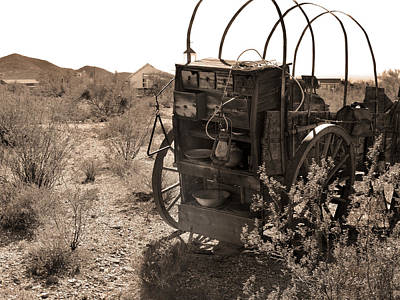 Chuck Wagon Photograph - Cook Wanted by Gordon Beck