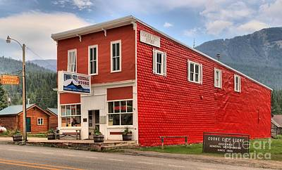 Photograph - Cooke City Mt Store by Adam Jewell