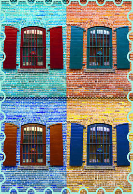 Photograph - Cookie Cutter Windows by Nina Silver