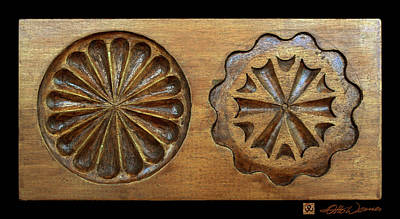 Relief Carving Photograph - Cookie Mold 17 by Hanne Lore Koehler