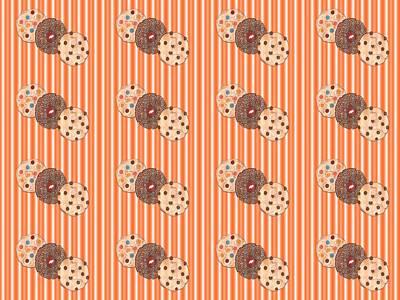 Raspberry Mixed Media - Cookie Pattern by Kathleen Sartoris