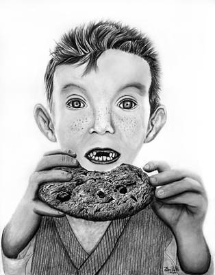 Portrait Drawing - Cookie Surprise  by Peter Piatt