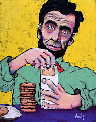 Folk Art Lincoln Painting - Cookies by David Hinds