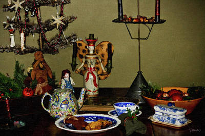 Bisque Ware Digital Art - Cookies For St Nick by Teresa Mucha