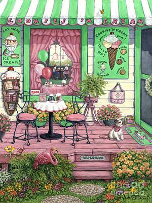 Painting - Cookies N Cream by Janet Kruskamp