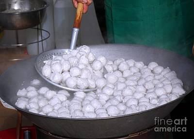 Photograph - Cooking Chinese Fish Balls by Yali Shi