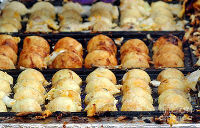 Photograph - Cooking Japanese Squid Balls by Yali Shi