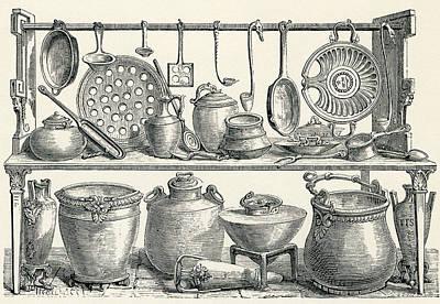 Cooking Utensils Found In Pompeii Art Print