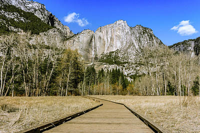 Photograph - Cook's Meadow Boardwalk Yosemite by Adam Rainoff