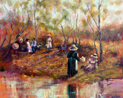 Painting - Cook's Picnic by Marie Green