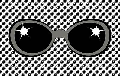 Digital Art - Cool 70's Sunglasses Grays by MM Anderson