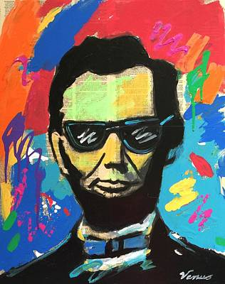President Mixed Media - Cool Abraham Lincoln by Venus