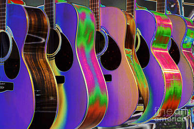 Photograph - Cool Acoustic Guitars by Annie Zeno