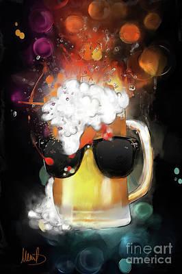 Tankard Painting - Cool Beer by Melanie D