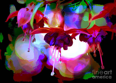 Photograph - Cool Blue Fuchsia World by Carol Groenen
