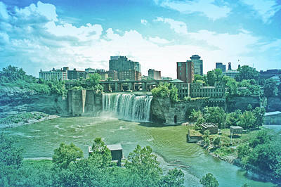 Photograph - Cool Blue High Falls by Aimee L Maher ALM GALLERY