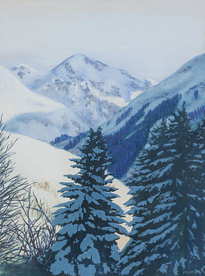 Painting - Cool Blue Mountains by Bryan Bustard