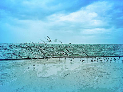 Photograph - Cool Blue Sands Of Time by Aimee L Maher ALM GALLERY