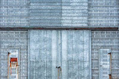 Corn Cribs Photograph - Cool Blue Steel Building by Todd Klassy