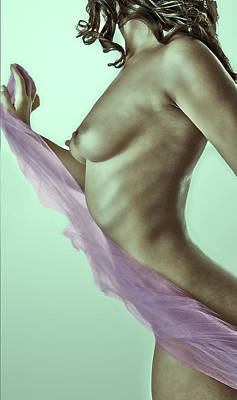 Nude Naked Female Nipple Women Breast Photograph - Cool Breeze by Naman Imagery