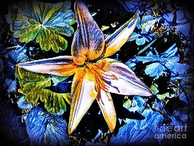 Lilies Mixed Media - Cool Calm Collected by Debra Lynch
