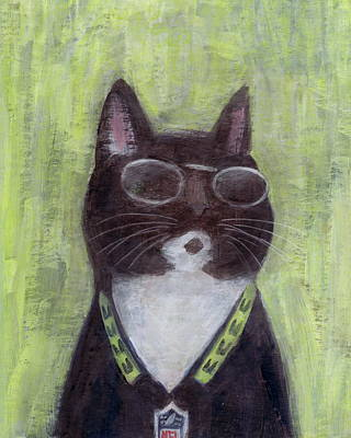 Painting - Cool Cat #1 by Kazumi Whitemoon