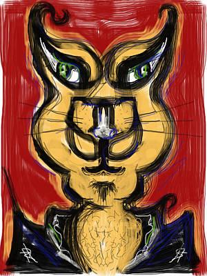 Digital Art - Cool Cat by Russell Pierce