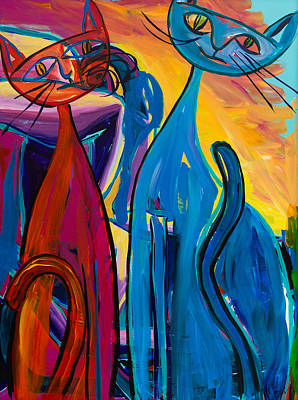 Painting - Cool Cats by Beth Cooper