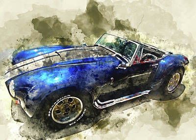 Cobra Mixed Media - Cool Cobra by Kevin O'Hare