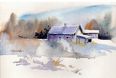 Painting - Cool Country Barn by P Anthony Visco