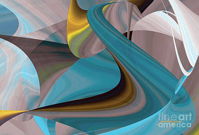 Digital Art - Cool Curvelicious by Jacqueline Shuler