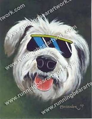Painting - Cool Dog by Michael Meissner