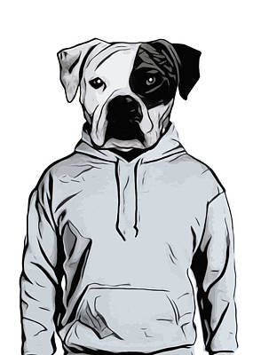 Hoodie Painting - Cool Dog by Nicklas Gustafsson